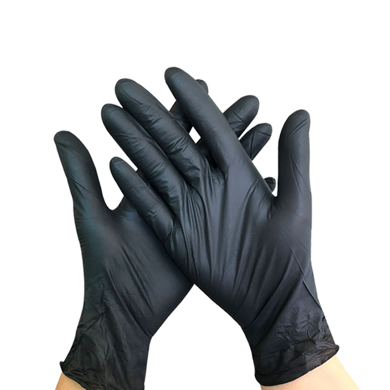 100PCS Black Disposable Latex Medical Gloves To Isolate Bacteria And Viruses For Hospital Household Ceaning Disposable Gloves