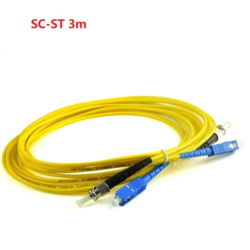 3m SC-ST Duplex Single Mode Fibre Patch Cord Fiber Cable Jumper