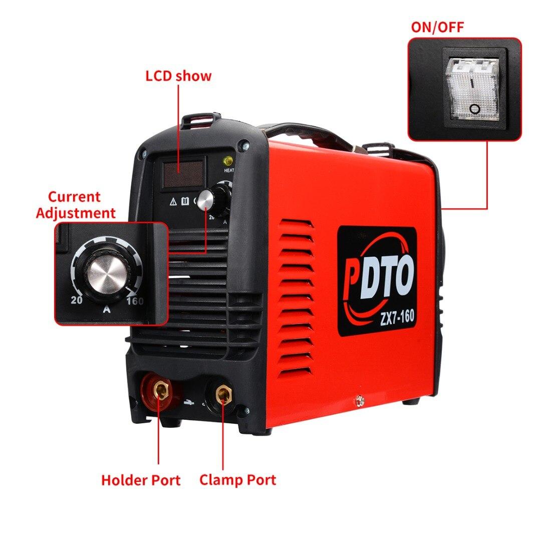 115/230V 20-160Amp Inverter Arc Elektrische Schweißen Maschine Handheld Elektrische Schweißer für DIY Schweißen Arbeits