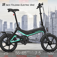 16 Inch Folding Electric Bicycle Power Assist Moped Bike E bike 250W Motor Brakes Bicycle Foldable Foot Pedal Outdoor Cycling