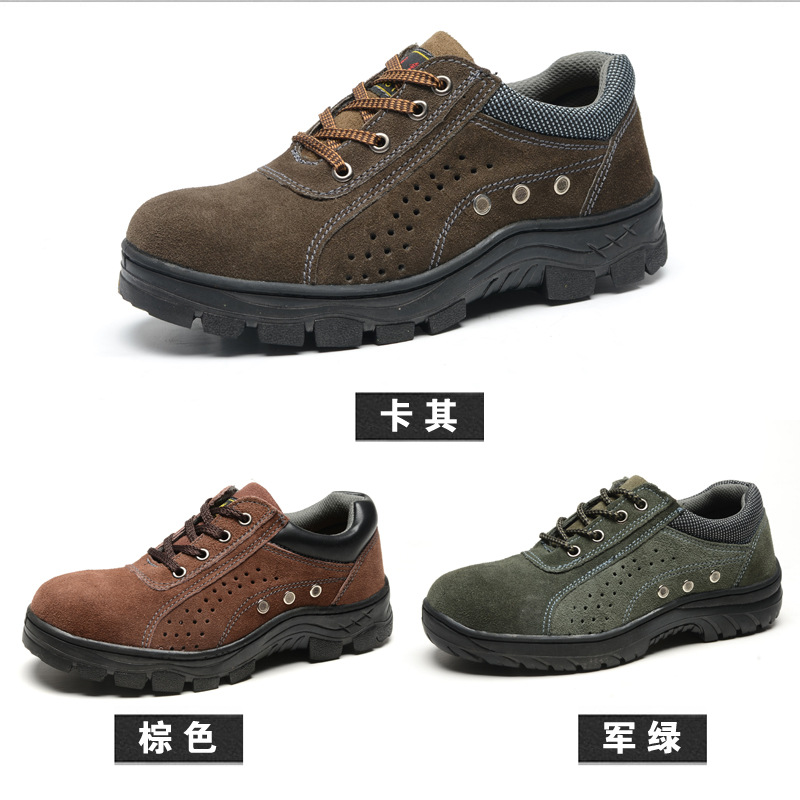 Supply New Style Breathable Safety Shoes Protective Shoes Smashing Anti Puncture Oil Resistant Acid-base Manufacturers Wholesale