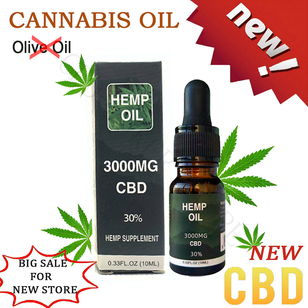 10ml Natural Golden Hemp Oil Contain 3000mg CBD Powder Purity Over 99% quick effective for insomnia and anxiety and pain image