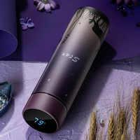 Thermos vide flacons 450ml affichage de la température tasses isolées bouteille d'eau chaude 304 acier inoxydable gobelet thé Termos lait tasse
