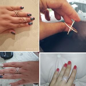 UILZ Роскошные AAA кубический цирконий микро проложить Установка большой X образный палец кольца Потрясающие ювелирные изделия женские аксессуары UR178
