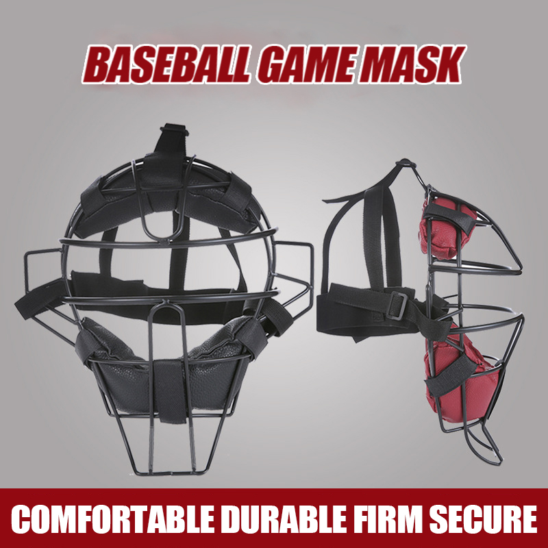 Baseball Protective Mask Casco Beisbol Softball Steel Frame Strike Face Mask Head Protection Helmet Board Baseball Equipment