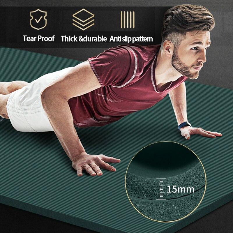 200*90cm 15mm extra grosso nbr tapete de yoga alta qualidade exercício esporte esteiras para ginásio casa fitness insípido almofadas exercício ginástica