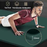Tapetes deportivos para hacer ejercicio, tapetes deportivos de alta calidad para gimnasio, Fitness en casa, almohadillas sin sabor, 200x90cm, 15mm, NBR