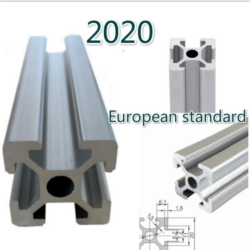 100-1000 Mm 2020 Aluminum Profile European Standard Anodized Linear Guide For DIY CNC 3d Printer Table
