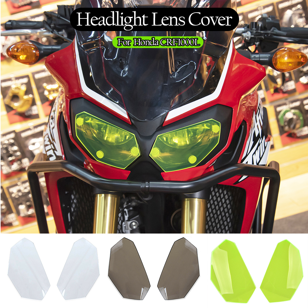 CRF1000L Motorcycle Motorbike Front Headlight Screen Cover Shield Guard Lens Protector for 2016-2019 Africa Twin Honda CRF1000L 2017 2018 Brown