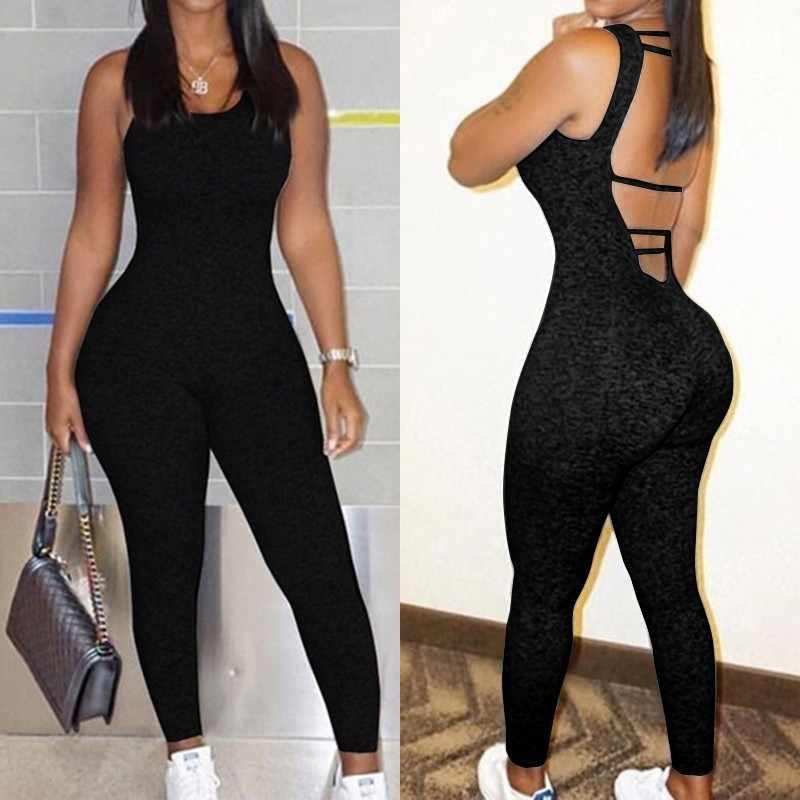 Zanzea 2020 Vrouwen Sexy Backless Jumpsuits Zomer Strap Rompertjes Overalls Vrouwelijke Casual Jarretel Bodysuit Oversized Slanke Broek