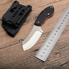 New CR Small Straight Knife Outdoor Fixed Knife Camping Pocket Survival Knives Hunting 440 Blade G10 Handle Tools EDC Best Gift dicoria 2016 scout d2 blade g10 handle fixed blade hunting straight knife kydex sheath camp survival outdoors edc knives tools