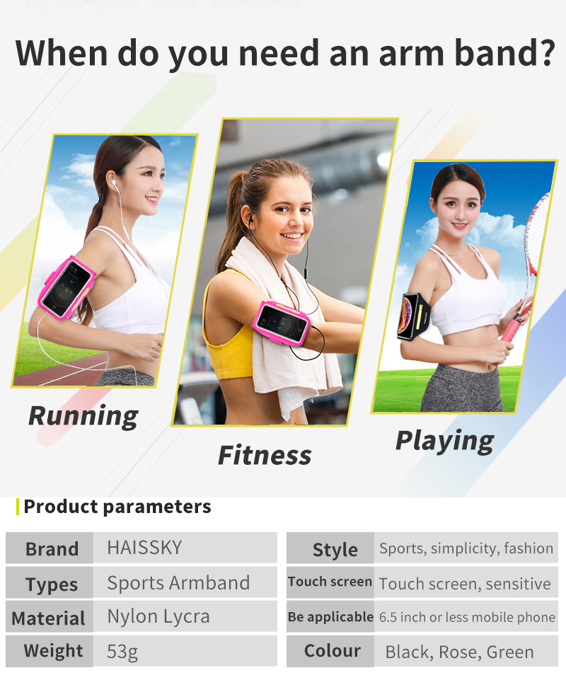 Running Sports Phone Case Arm Band For iPhone 12 11 Pro Max XR 6 7 8 Plus Samsung Note 20 10 S10 S9 3