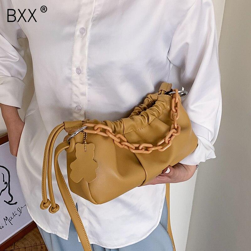 [BXX] Crossbody Bags For Women 2020 Spring PU Leather Purses And Handbags Brand Designer Ladies Shoulder Messenger Bag  HL346