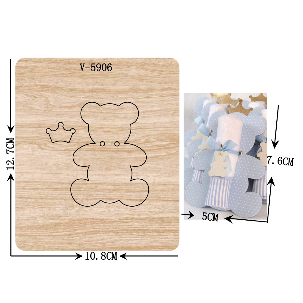 New Bear Wooden Dies Cutting Dies For Scrapbooking Multiple Sizes V-5906