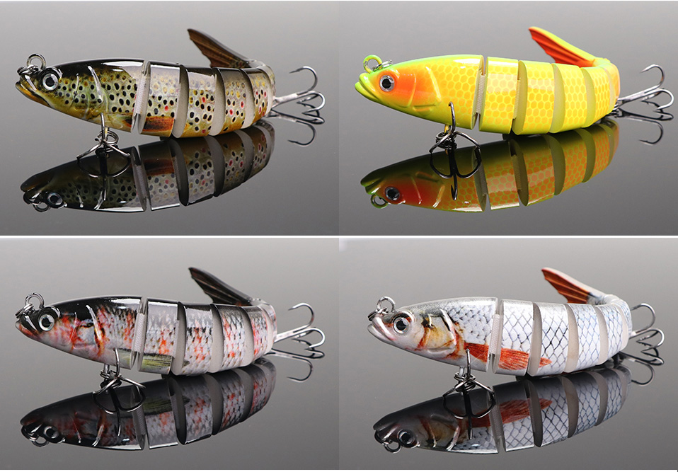 VTAVTA 14cm 23g Sinking Wobblers Fishing Lures Jointed Crankbait Swimbait 8 Segment Hard Artificial Bait For Fishing Tackle Lure 011