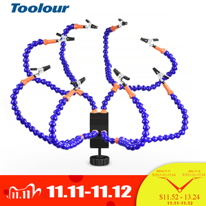 Image 1 - Toolour Multi Soldering Station Helping Third Hand Stand with 8PCS Flexible Arms Desk clamp Holder For PCB Welding Repair Tool