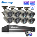 Techage H.265 8CH 1080P HDMI POE NVR комплект CCTV система безопасности 2.0MP ИК наружная аудио запись IP камера P2P комплект видеонаблюдения