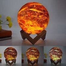 Ночной светильник moon прикроватная лампа для спальни светодиодный
