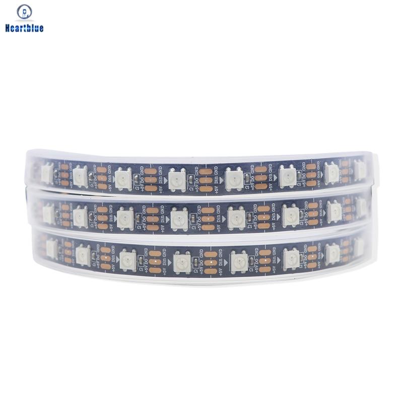 Ws2812b Светодиодные ленты светильник s Ws2812 полный Цвет индивидуально адресуемых СВЕТОДИОДНЫЙ светильник черный/белый печатных плат Водонепр...