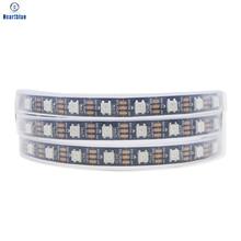 Ws2812b LED Strip Lights Ws2812 Full Color Индивидуально Адресуемая LED Light Black% 2FWhite PCB Waterproof IP30% 2F65% 2F67 DC5V 1-5m