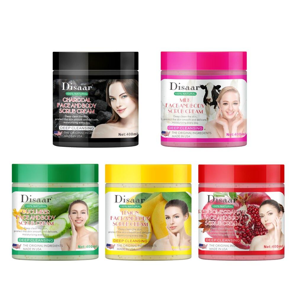 400g Facial And Body Exfoliator Face Scrub Natural Organic Peeling Exfoliating Moisturizer Body Exfoliante Beauty Cream 5