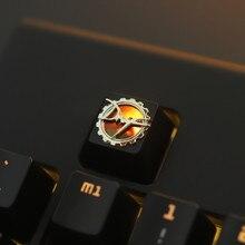 1pc di zinco placcato in lega di alluminio cap chiave per interruttori MX tastiera Meccanica retroilluminata sollievo keycap per DNF R4 altezza