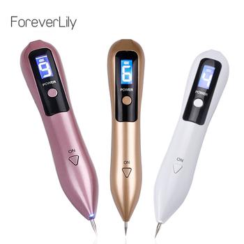 Najnowszy laserowy długopis plazmowy usuwanie Mole usuwa ciemne plamy LCD pielęgnacja skóry pióro punktowe skóry brodawki Tag tatuaż narzędzie do usuwania pielęgnacja urody tanie i dobre opinie foreverlily Electric Z tworzywa sztucznego Twarzy czyste 110 v (不含)-220 v (不含) 16 5*3 4cm LMH181220-02-gold China