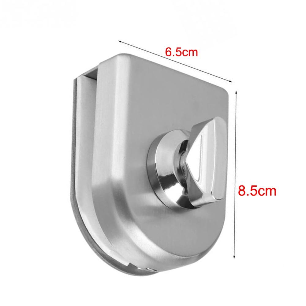 Stainless Steel Glass Door Lock Latch Rotary Knob Open/Close Stainless Steel Glass Latch Home Hotel 10~12mm