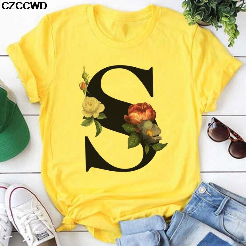 Футболка женская с коротким рукавом, топ с принтом S Leeter, графическая рубашка, желтая, лето 2020