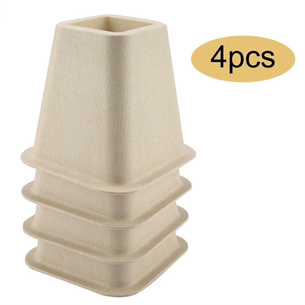 New Imitation Porcelain Furniture Raisers Set Of 4 For Bed Chair Desk Table Wood Floor Feet Protectors Furniture Risers Tool image