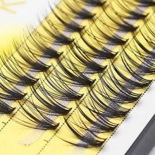 Cílios postiços de vison kimcci 60, cílios postiços individuais 20d com volume russo, natural, para maquiagem