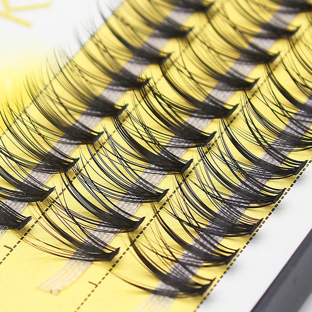Kimcci 60 Bundles Mink Eyelash Extension Natural 3D Russian Volume Faux Eyelashes Individual 20D Cluster Lashes Makeup Cilia