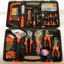 Household hand tool set, hardware repair toolbox, electrician and carpentry combination set 12pcs hardware toolbox tool set portable home combination repair toolbox with plastic box