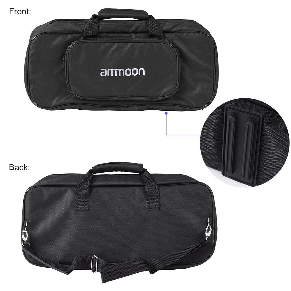 Image 4 - ammoon DB 2 Portable Guitar Pedal Board Aluminum Alloy with Carrying Bag Tapes Straps guitar accessories guitar pedal bag-in Guitar Parts & Accessories from Sports & Entertainment