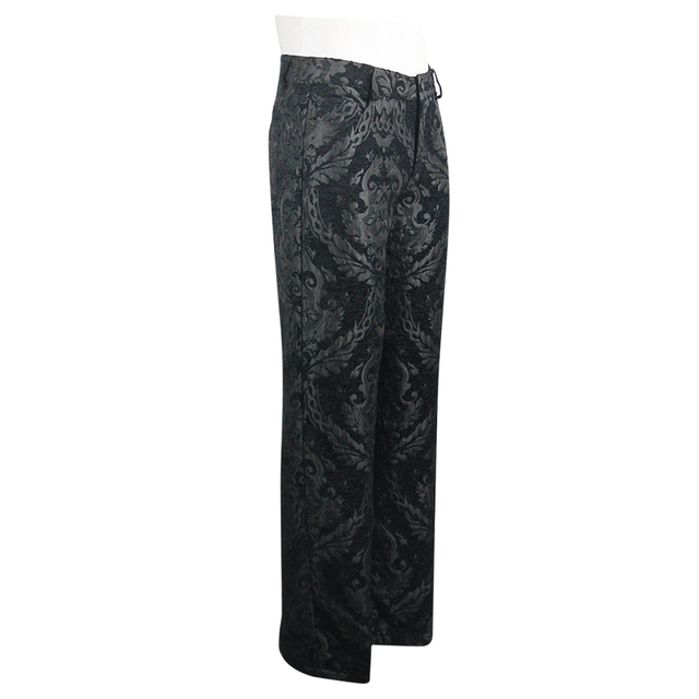 Devil Fashion Men Steampunk Retro Long Trousers Victorian Style Casual Embroidery Pants Gothic Punk Party Formal Wide Leg Pants 18