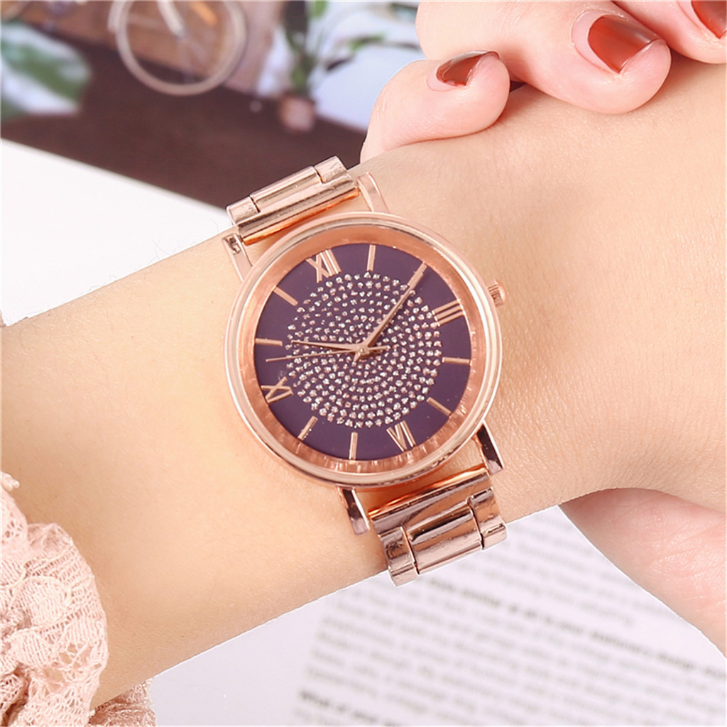 Hot Sale Women Watches Luxury Watches Quartz Watch Stainless Steel Dial Casual Bracelet Watch for Woman Casual Watches Dropship