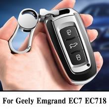 Quàng Nam chất lượng PC + TPU chìa khóa bao da Chìa Khóa Vỏ bảo vệ giá đỡ cho Geely Emgrand EC7 EC718 EC715 Toàn Cầu hawk GX7