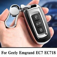 גובה איכות מחשב + TPU מקרה מפתח כיסוי מפתח מקרה מגן פגז מחזיק לgeely Emgrand EC7 EC718 EC715 הגלובלי הוק GX7