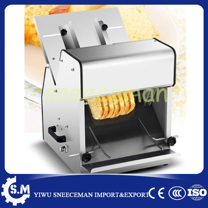 Commercial Bread Slicer Machine Automatic Electric 37 Slices Square Bread Slicer Machine Stainless Steel Steamed Bun Slicer