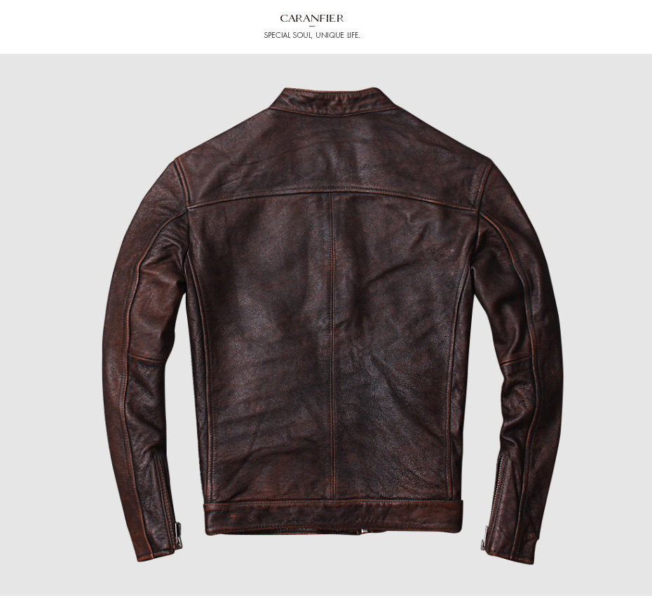 Hd498c6f538da45b88f040dcc5ad90d59i CARANFIER DHL Free Shipping Mens 100% Cowhide Genuine Leather Jacket High quality old retro motorcycle leather jacket 3XL