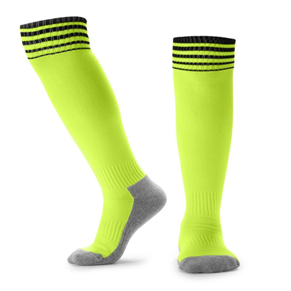 Kid's Breathable Football Socks High Tube Socks Boys Girls Over Knee Sports Socks Outdoor Sports Ball Soccer