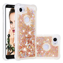 Luxury Liquid Quicksand Phone Cases For Google Pixel 3a XL Case Glitter Bling Bumper Soft TPU Protector Back Cover Coque Gift