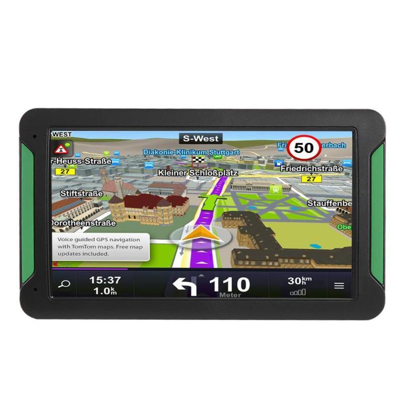 S7 7 дюймов 8 ГБ Портативный сенсорный экран HD Автомобильный gps навигатор fm-передатчик 2018 новейшая Европейская карта Автомобильный грузовик ...