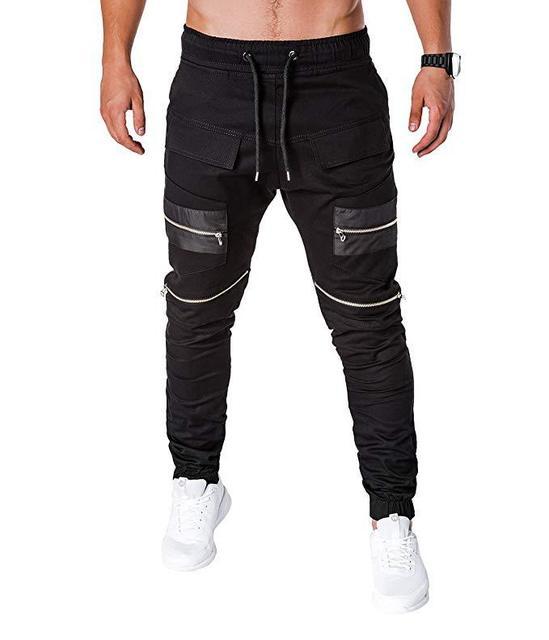 MARKA KRALI-Pantalones para Hombre, ropa informal estilo Hip Hop, Cargo, Pantalones bombachos, Steampunk, para correr 2
