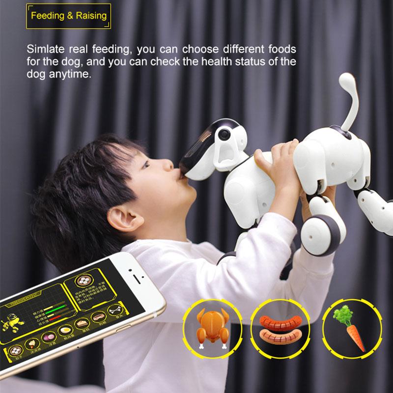 HeLIC Max AI électronique pour animaux de compagnie télécommande Mobile Robot Intelligent chien APP Manipulation Bluetooth haut-parleur multi-fonction