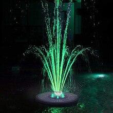 СВЕТОДИОДНЫЙ плавающий фонтан на солнечной батарее, садовый водяной фонтан, украшение бассейна, пруда, питание от солнечной панели, насос д...