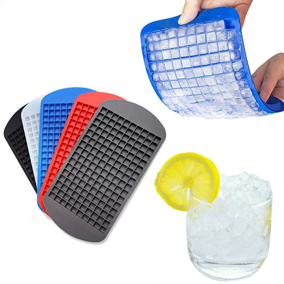 Пищевой силикон 160, лоток для кубиков льда, мини-кубики льда, маленькая квадратная форма, льдогенератор для кухни