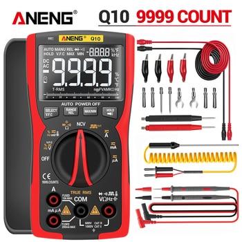 ANENG-multímetro Digital Q10 9999, probador profesional, multímetro de valores eficaces auténticos, condensador...