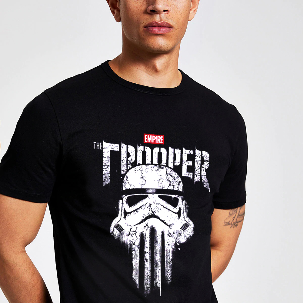 Star Wars Imperial Stormtrooper Punisher Skull T Shirt Rock And Roll Homme Tee Shirt Organic Cotton XS-3XL Homme T-shirt