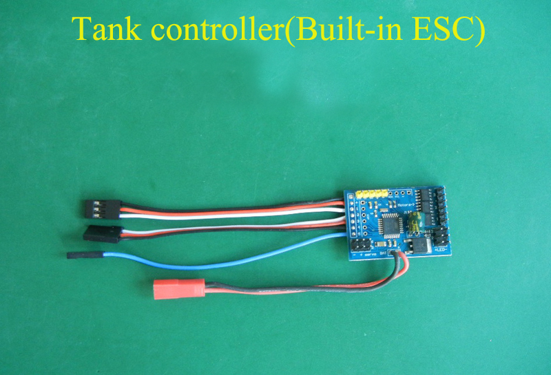 1Set Tank Controller with Sound Module Kit Built-in 3-way Brushed ESC 6-10V <font><b>2S</b></font> Lipo for 27/1 35/1 Small Tank Model/N20 130 <font><b>Motor</b></font> image
